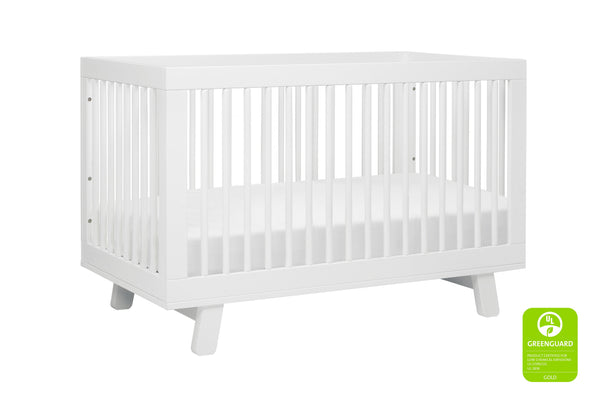 babyletto modern midcentury Hudson 3-in-1 Convertible Crib with Toddler Bed Conversion Kit in Grey Finish 白色