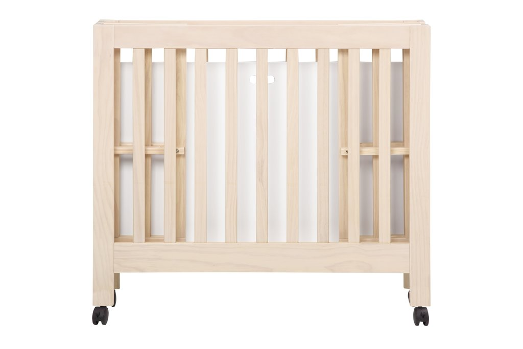 M6698NX,Origami Mini Crib In Washed Natural