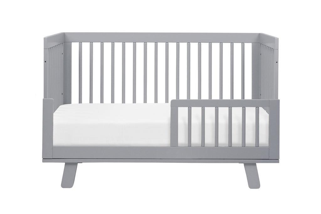 M4201G,Hudson 3-in-1 Convertible Crib with Toddler Bed Conversion Kit in Grey Finish