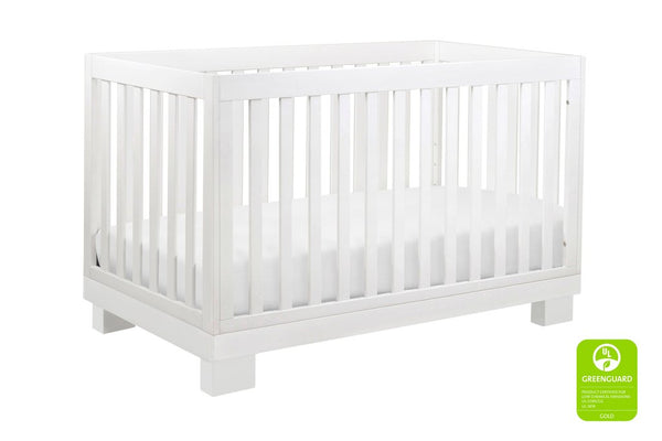 M6701,Modo 3-in-1 Convertible Crib with Toddler Bed Conversion Kit in White Finish
