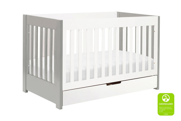M6801W,Mercer 3-in-1 Convertible Crib with Toddler Bed Conversion Kit in White Finish 灰 / 白