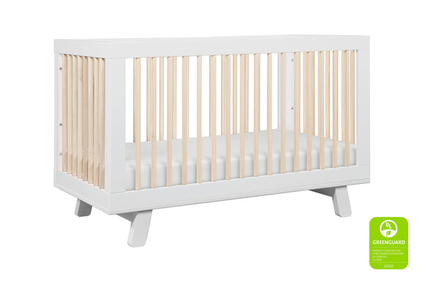babyletto modern midcentury Hudson 3-in-1 Convertible Crib with Toddler Bed Conversion Kit in Grey Finish 白色 / 洗水原色
