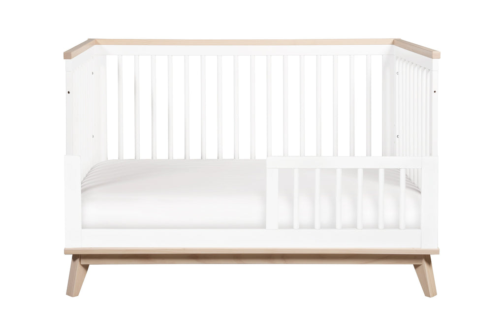 M5801WNX,Scoot 3-in-1 Convertible Crib With Toddler Bed Conversion Kit in White/Washed Natural