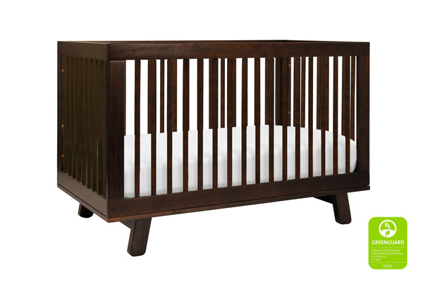 babyletto modern midcentury Hudson 3-in-1 Convertible Crib with Toddler Bed Conversion Kit in Grey Finish Espresso