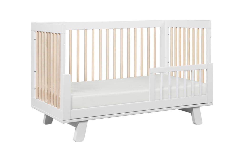 M4201WNX,Hudson 3-in-1 Convertible Crib Toddler Bed Conversion Kit in White/Washed Natural