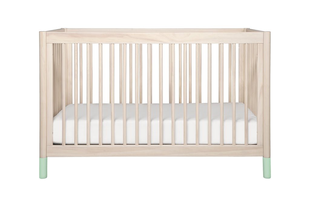 M12901NXW,Gelato 4-in-1 Convertible Crib  White Color Feet With Toddler Bed Conversion Kit in Washed Natural
