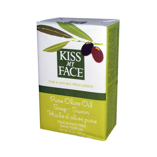 Kiss My Face Bar Soap Pure Olive Oil Fragrance Free - 8 oz | Kipe it