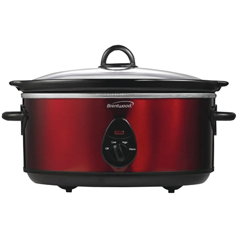 BRENTWOOD SC-150R 6.5 Quart Slow Cooker - Red | Kipe it