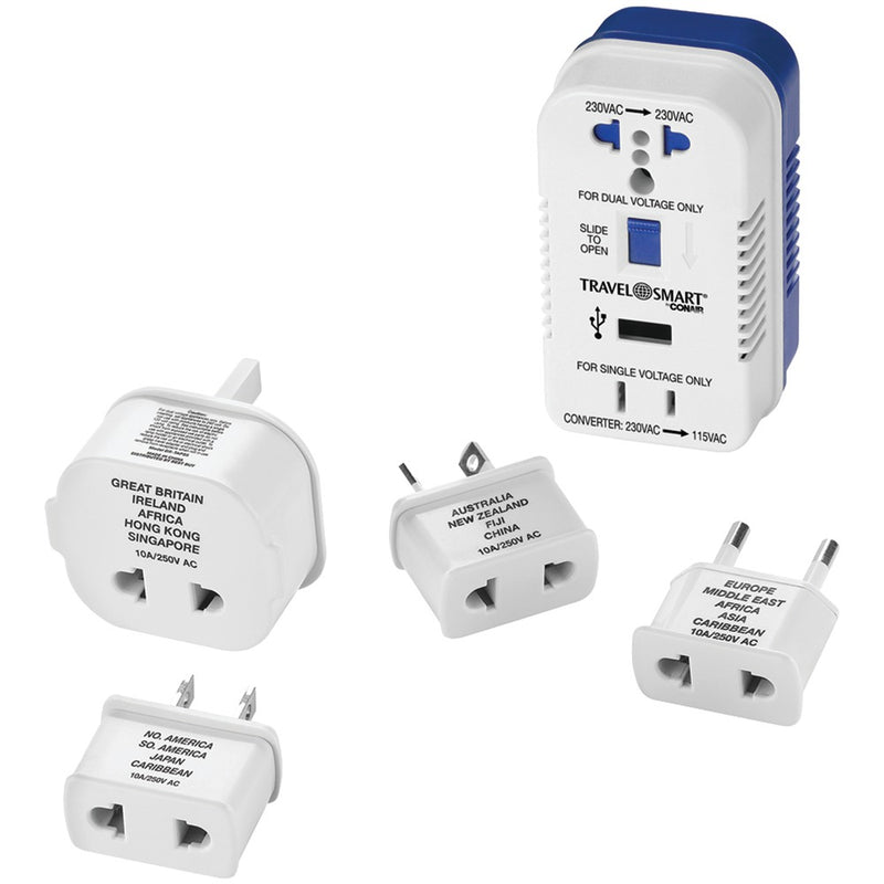 Travel Smart TS703CRN 2-Outlet, 1,875-Watt Converter for Single- & Dual-Voltage Appliances