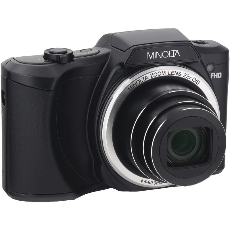MINOLTA MN22Z-BK 20.0-Megapixel 1080p Full HD Wi-Fi(R) MN22Z Digital Camera with 22x Zoom (Black)