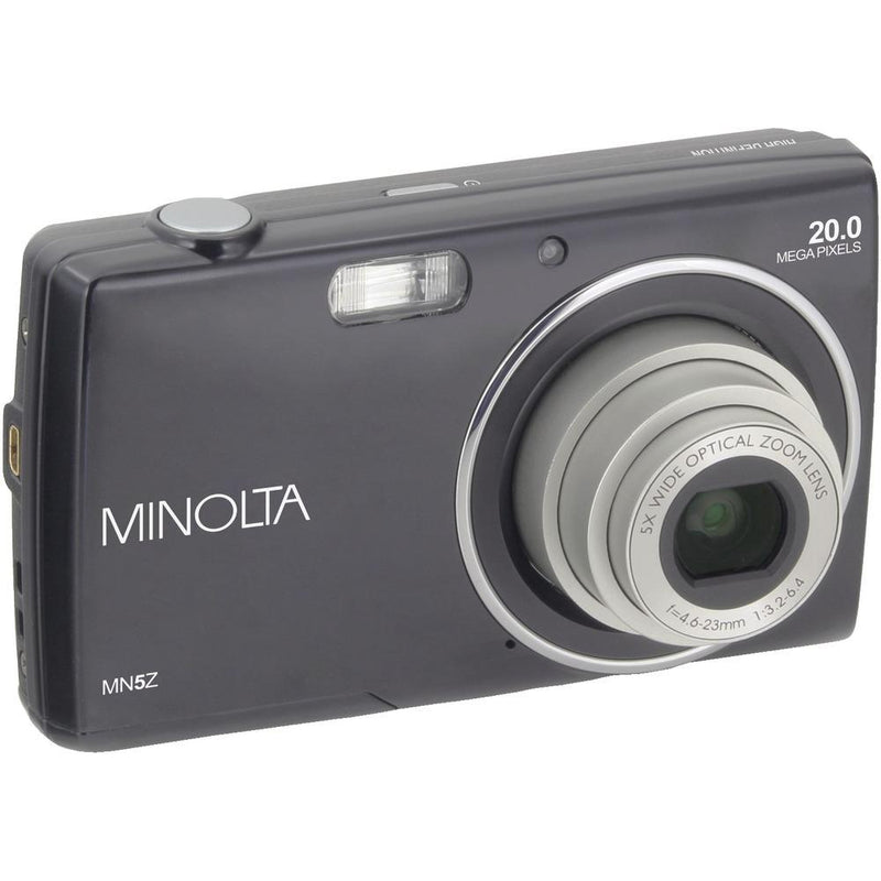 MINOLTA MN5Z-BK 20-Megapixel MN5Z HD Digital Camera with 5x Zoom - Black | Kipe it