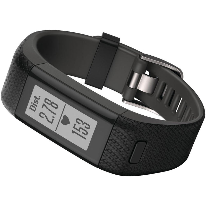 GARMIN 010-01955-36 vivosmart(R) HR+ Activity Tracker (Regular Fit; Black) | Kipe it