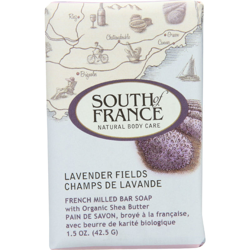 South of France Bar Soap - Lavender Fields - Travel - 1.5 oz - Case of 12 | Kipe it