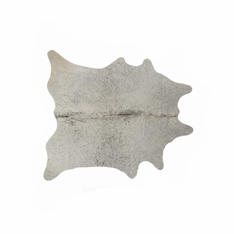 6' X 7' Exotic Cowhide Rug - Light Grey | Kipe it