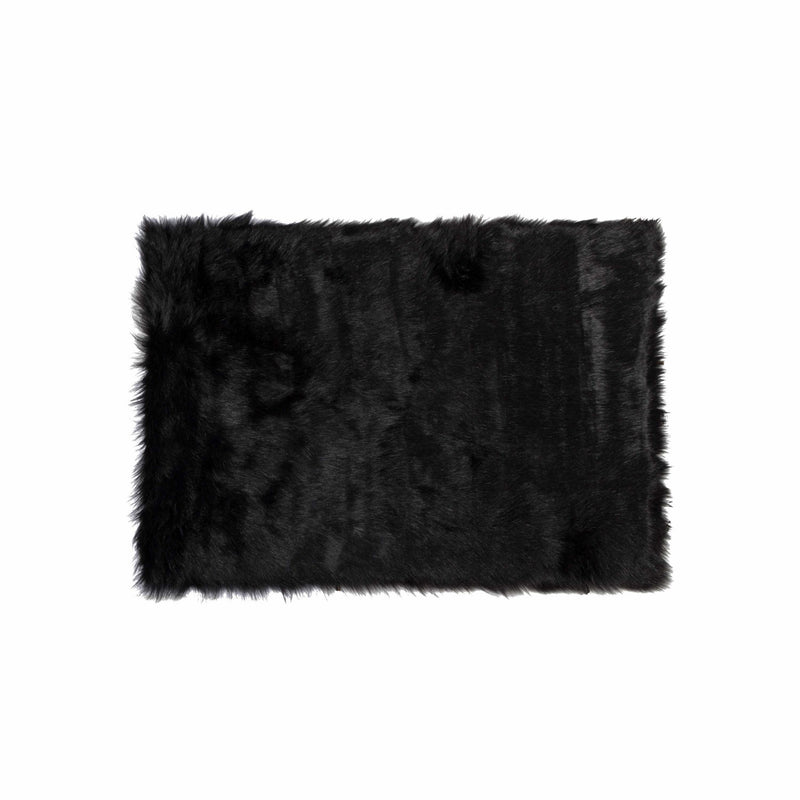 "60"" x 96"" Black, Sheepskin - Rug/Throw 