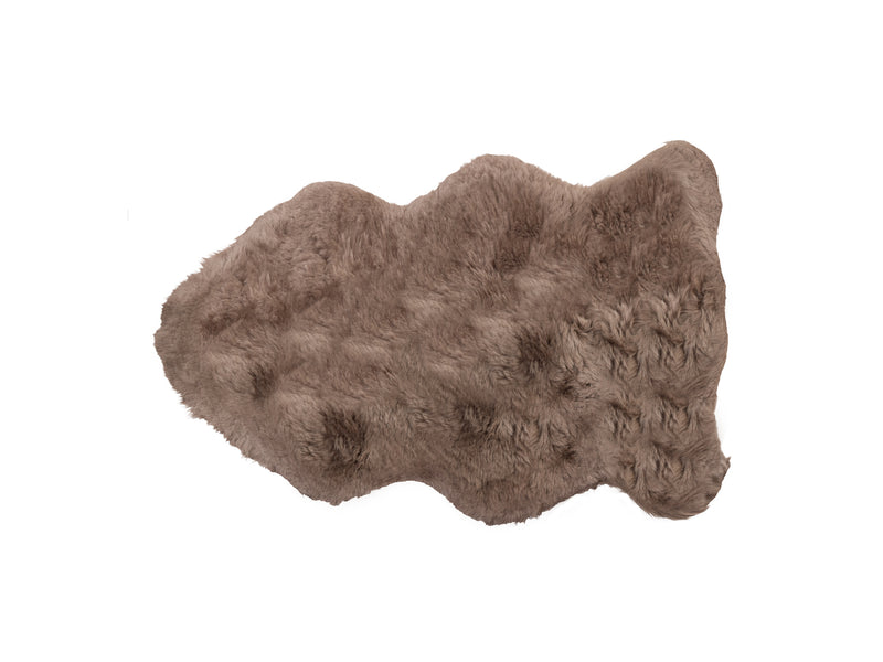 "24"" x 36"" Taupe, Sheepskin Single Long-Haired - Rug 