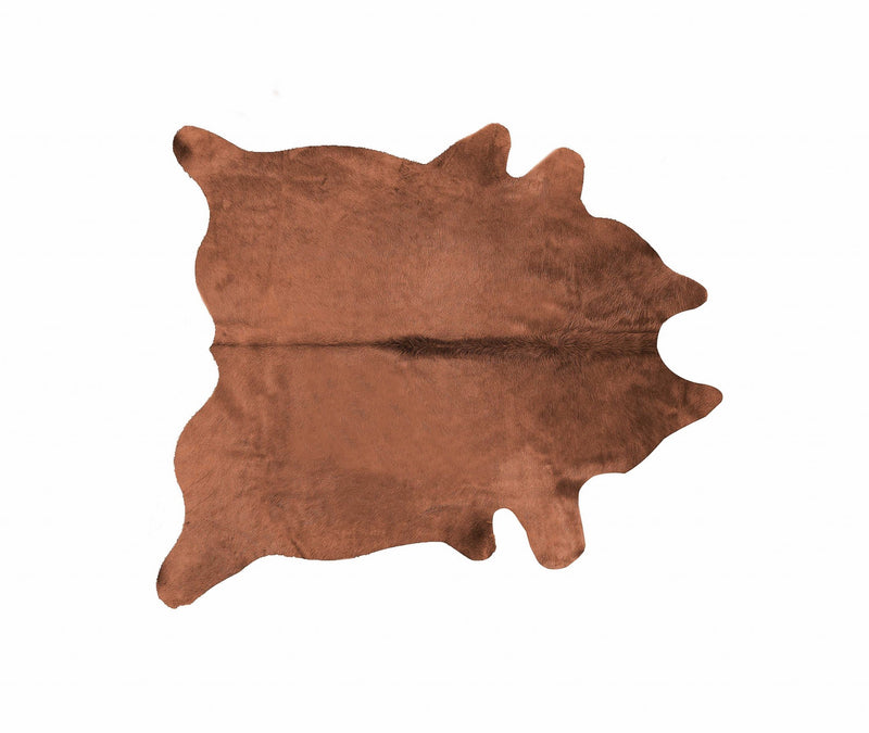 GENEVA 6' X 7' COWHIDE RUG - BROWN | Kipe it