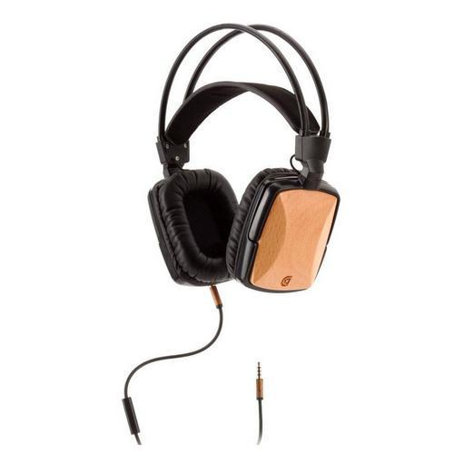 Griffin WoodTones Over-Ear Headphones with In-Line Microphone - Beech Wood | Kipe it