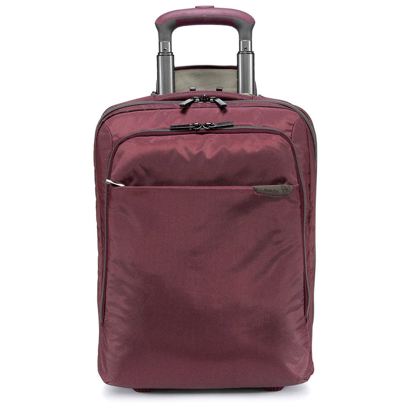 Tucano Work-Out Expanded Trolley Carry On Case, Burgundy | Kipe it
