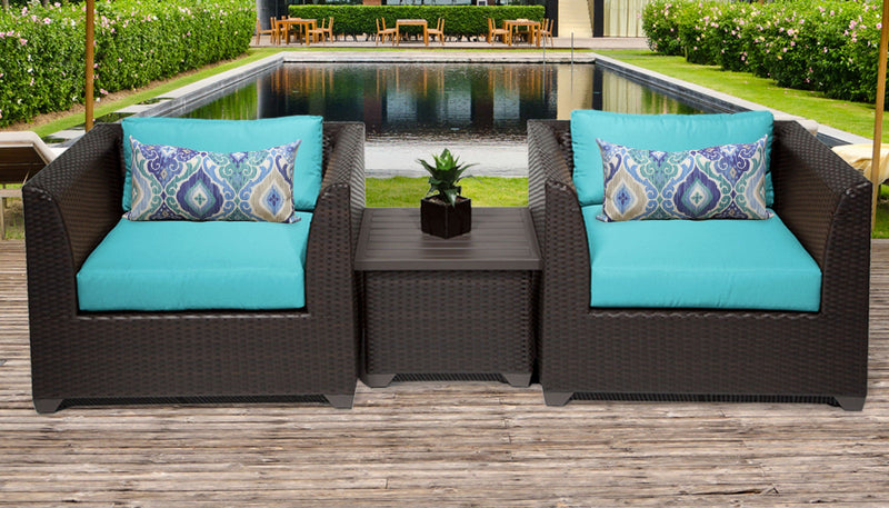 TK CLASSICS Barbados 3 Piece Outdoor Wicker Patio Furniture Set 03a - Aruba | Kipe it