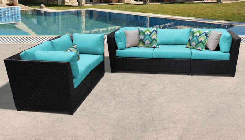TK CLASSICS Barbados 5 Piece Outdoor Wicker Patio Furniture Set 05a - Aruba | Kipe it