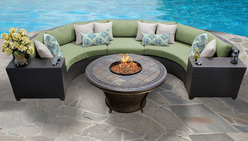 TK CLASSICS Barbados 6 Piece Outdoor Wicker Patio Furniture Set 06h - Cilantro | Kipe it