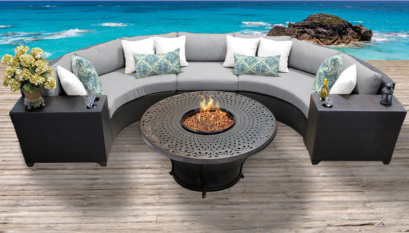 TK CLASSICS Barbados 6 Piece Outdoor Wicker Patio Furniture Set 06i - Grey | Kipe it