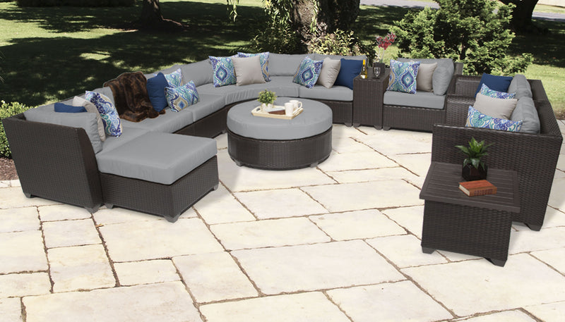 TK CLASSICS Barbados 12 Piece Outdoor Wicker Patio Furniture Set 12a - Grey | Kipe it