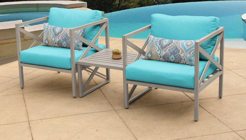 TK CLASSICS Carlisle 3 Piece Outdoor Wicker Patio Furniture Set 03a - Aruba | Kipe it
