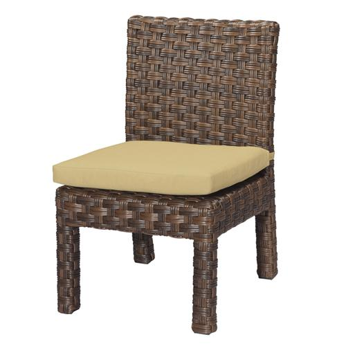 Mocha Wicker Armless Dining Chair-2 | Kipe it