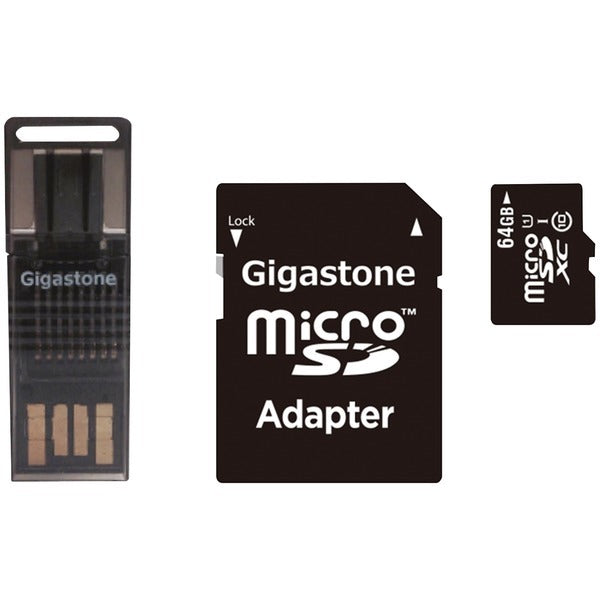 Gigastone GS-4IN1600X64GB-R Prime Series microSD Card 4-in-1 Kit (64GB) | Kipe it