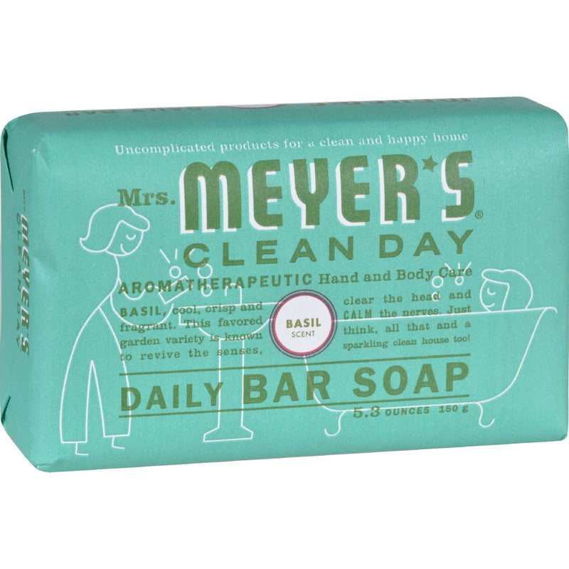 MRS MEYER'S Bar Soap - Basil (5.3 Oz) | Kipe it