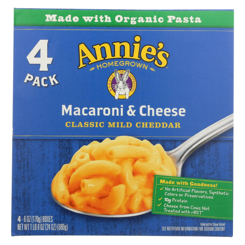 Annie's Homegrown Macaroni And Cheese -  4 Pack  - Case of 4 - 4/6 oz.