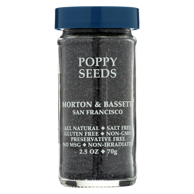 Morton and Bassett Seasoning - Poppy Seeds - 2.5 oz - Case of 3 | Kipe it