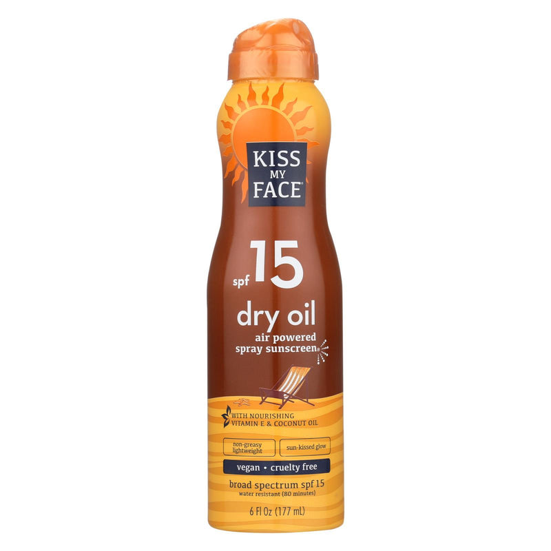KISS MY FACE Sunscreen - Dry Oil - Case of 1 - 6 fl oz. | Kipe it