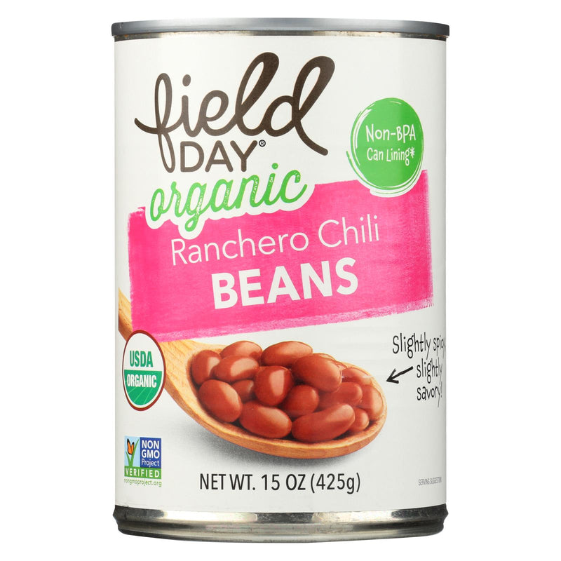Field Day Organic Ranchero Chili Beans - Chili Beans - Case of 12 - 15 oz. | Kipe it