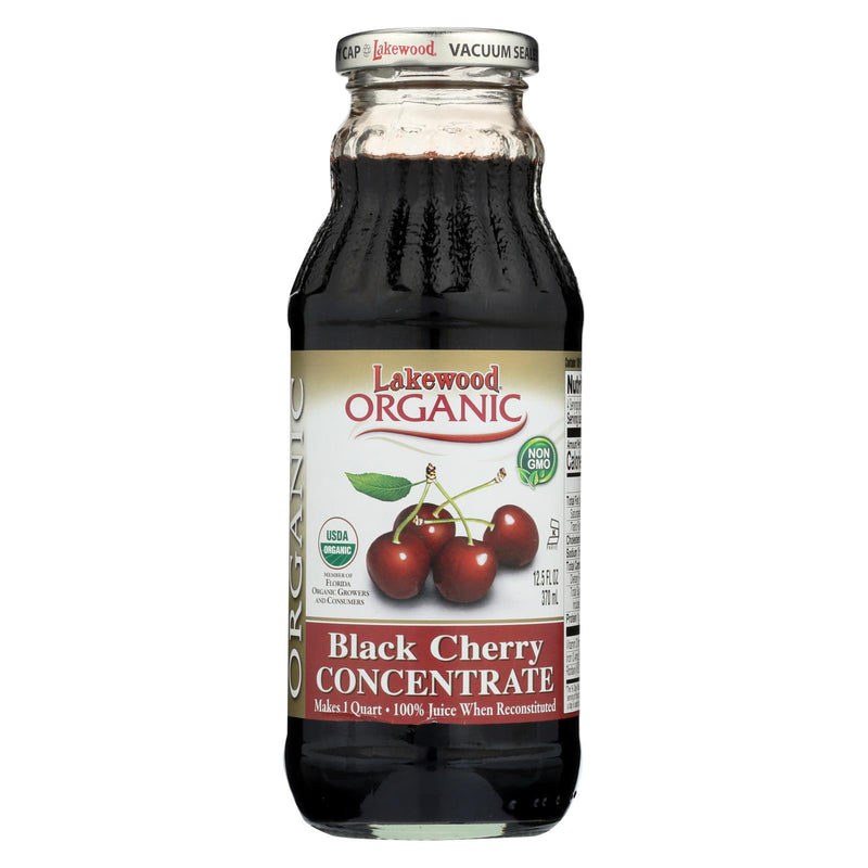 Lakewood Organic 100 Percent Fruit Juice Concentrate - Black Cherry - 12.5 oz | Kipe it