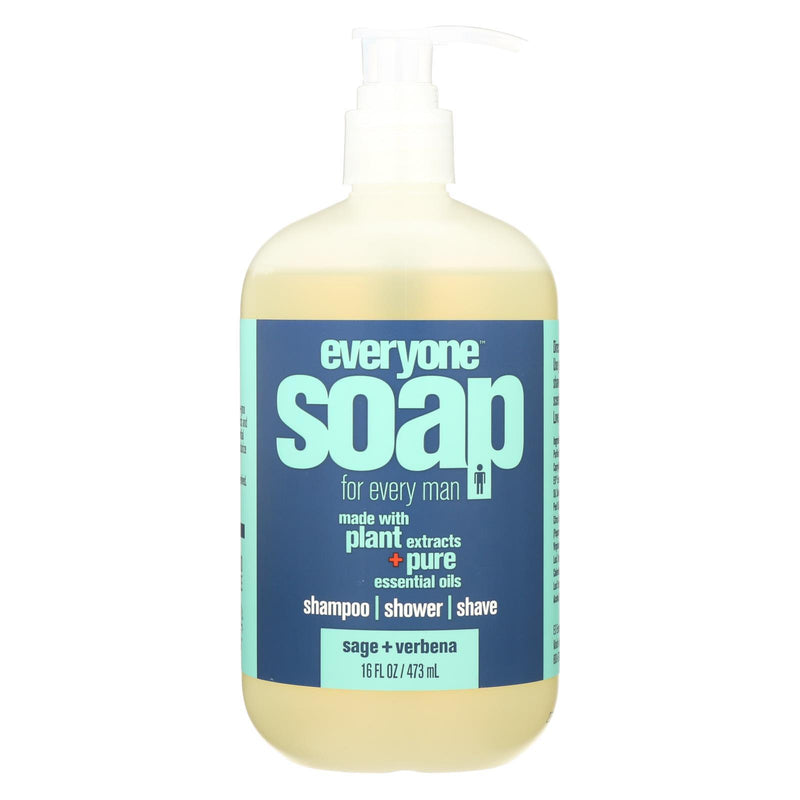 EO PRODUCTS Everyone Soap - 3 In 1 - Men - Sage - Verbena - 16 fl oz | Kipe it