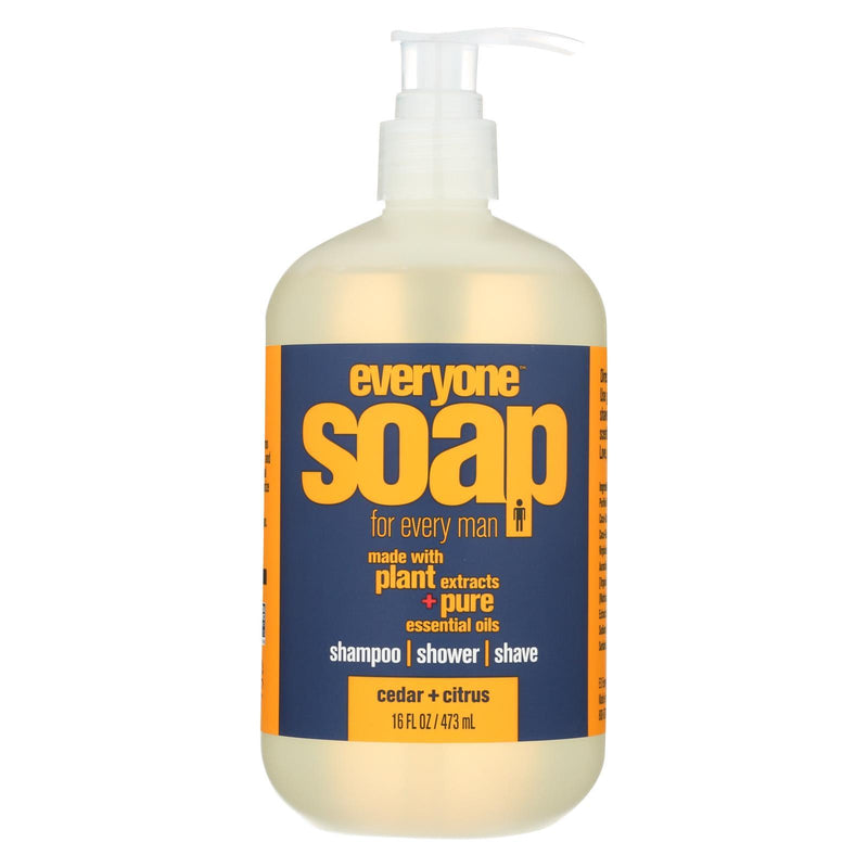 EO PRODUCTS Everyone Soap - 3 In 1 - Men - Citrus - Cedar - 16 fl oz | Kipe it