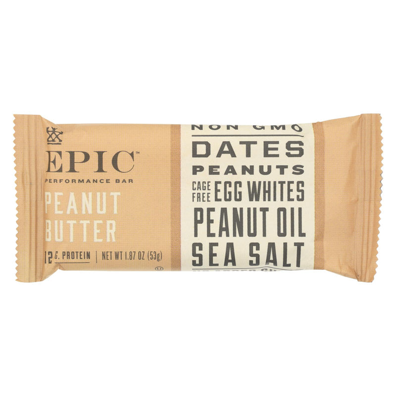 Epic - Bar Performance Peanut Butter - EA of 9-1.87 oz | Kipe it