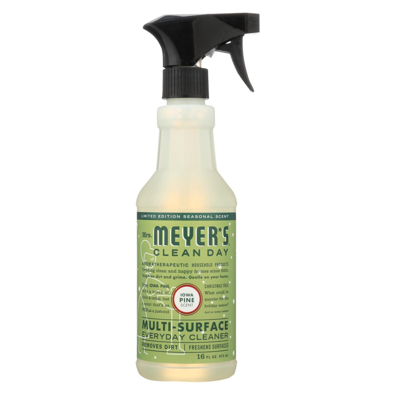 MRS MEYER'S Clean Day - Multi-Surface Everyday Cleaner - Iowa Pine - Case of 6 - 16 FZ | Kipe it