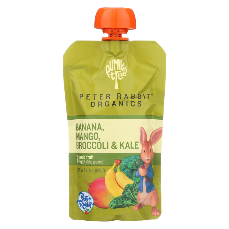 Peter Rabbit Organics Veggie Snacks - Kale, Broccoli and Mango with Banana - Case of 10 - 4.4 oz. | Kipe it