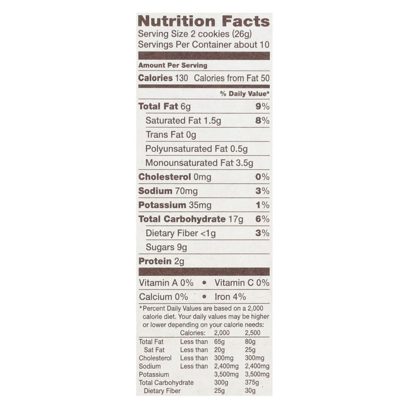 Back To Nature Chocolate Chunk Cookies - Case of 6 - 9.5 oz. | Kipe it