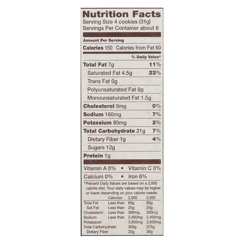 Back To Nature Cookies - Fudge Mint - Case of 6 - 6.4 oz. | Kipe it