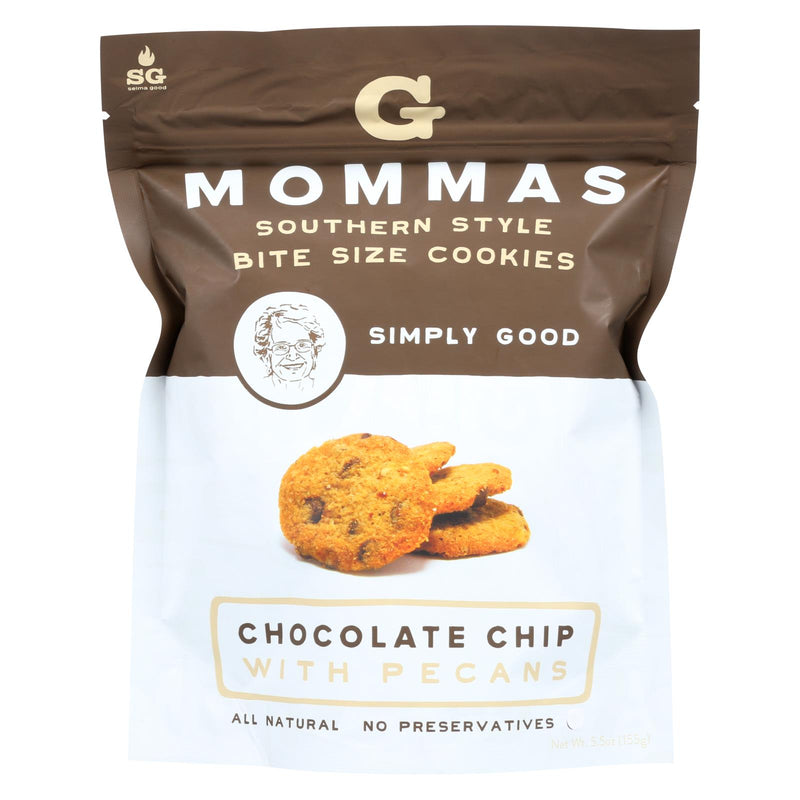 G Mommas Cookies - Cookies - Chocolate Chip With Pecans - Case of 6 - 5.5 oz. | Kipe it