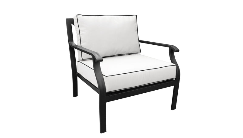 TK Classics kathy ireland Homes & Gardens Madison Ave. 5 Piece Outdoor Aluminum Patio Furniture 05b - Alabaster | Kipe it
