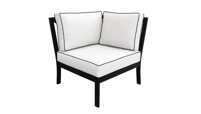 TK Classics kathy ireland Homes & Gardens Madison Ave. 8 Piece Outdoor Aluminum Patio Furniture 08n - Snow | Kipe it