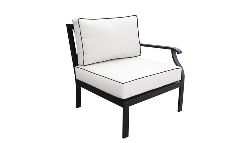 TK Classics kathy ireland Homes & Gardens Madison Ave. 5 Piece Outdoor Aluminum Patio Furniture 05a - Snow | Kipe it