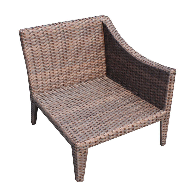 TK CLASSICS Manhattan 2 Piece Outdoor Wicker Patio Furniture Set 02a - Wheat | Kipe it