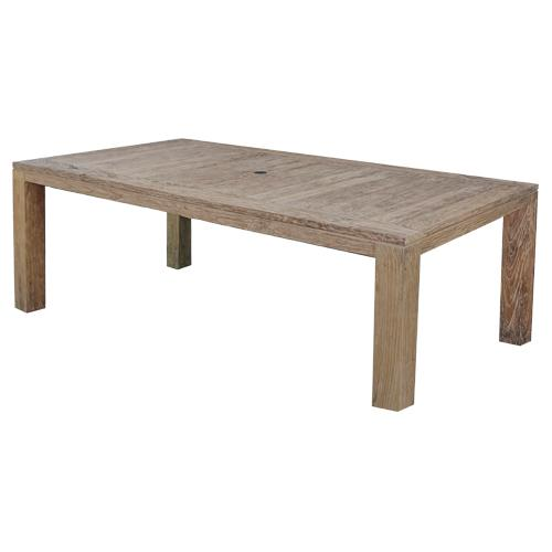Emerald Home Furnishings Weathered Teak Dining Table | Kipe it